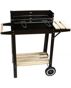 BARBECUE MOBILE AVEC GRILLE REGLABLE