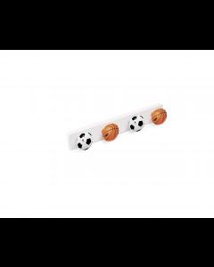 PORTE MANTEAU  4 BOUTONS FOOTBALL